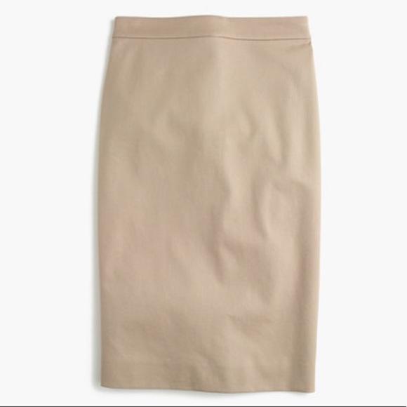 J. Crew No. 2 Cotton Khaki Pencil Skirt Size 8